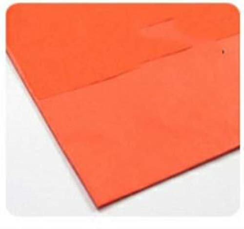 10 Piezas 50 * 66 Cm TiSSue OrigaMi PaPer DIY Hecho a mano Craft FaBric BY THE Yard, naranja rojo