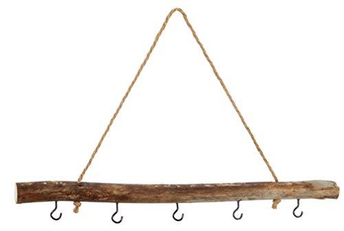 Meinposten. Dekozweig braun 50 cm AST Zweig Holz Fensterhänger mit 5 Haken Shabby Deko Landhaus Hängeast