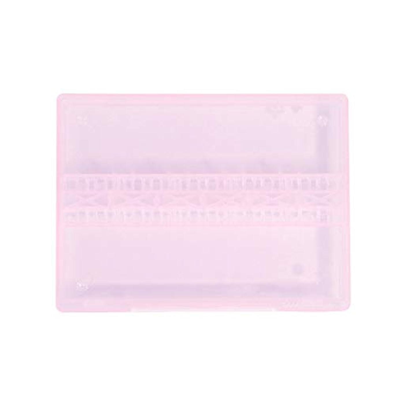 フライト配分合金ACAMPTAR 1個 14穴アクリルクリアホルダー電動ネイルドリルファイル用マニキュア展示ツール、ピンク
