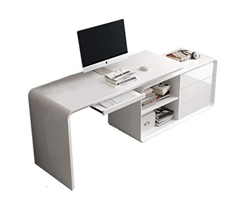 AIYIFU Mesa Escritorio de Oficina, Mesa de Ordenador con Bandeja para Teclado Escritorio Mesa de Estudio, Multipropósito para Estación de Trabajo de Oficina en Casa,160 * 55 * 76CM