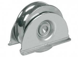 Roue de roue de roue de porte de 100 mm dans le support, porte coulissante, lourd pour barre de 20 mm