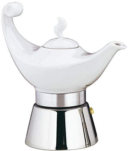 Cilio Aladino Espressokocher, Porzellan, weiß, 4 Tassen