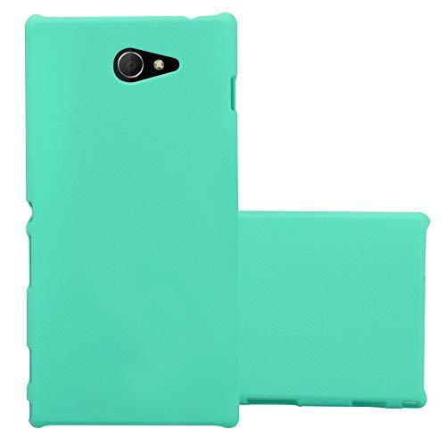 Cadorabo Hülle für Sony Xperia M2 / M2 Aqua in Frosty GRÜN – Hardcase Handyhülle aus Plastik gegen Kratzer und Stöße – Schutzhülle Bumper Ultra Slim Back Case Hard Cover