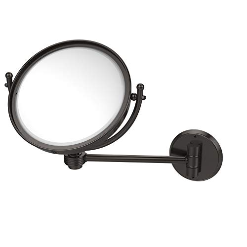 8 Inch Wall Mounted 3X Magnification Make-Up Mirror, Oil Rubbed Bronze - Allied Brass WM-5G/3X-ORB