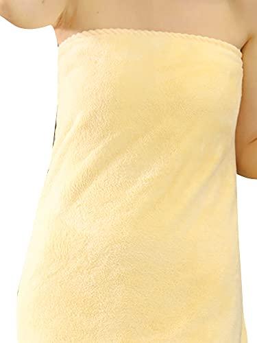 [ネルロッソ] 着る バスタオル レディース バスローブ ラップタオル ルームウェア ワンピース ガウン もこもこ ゆるふわ 正規品 約140cm×約70cm a1 cka241957-Free-a1