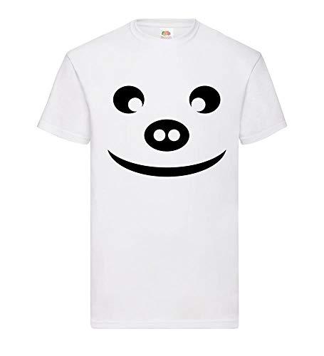 Varkenkop met typische neusstekker mannen T-shirt - shirt84.de