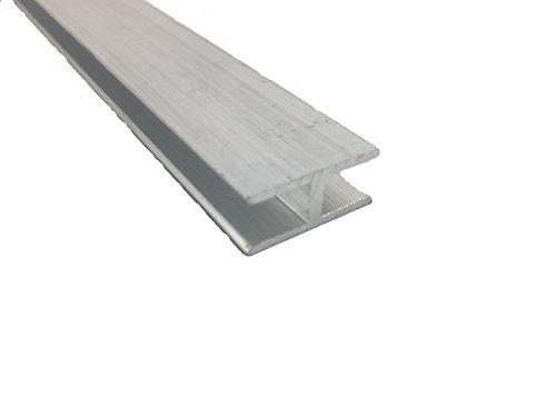 Perfil en H de aluminio, 12 mm x 40 mm x 8 mm x 2 mm x 2000 mm, 1000