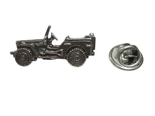 Kiola Designs Silver Toned Jeep Car Lapel Pin