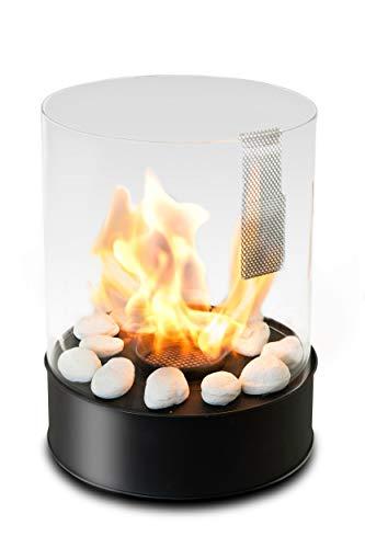 Cheminée de table au bioéthanol - Combustion de 5h - Chauffage 3kW - Intérieur/extérieur - Carburant 1L gratuit - Cadeaux pour la maison et le jardin - Chantico par Planika