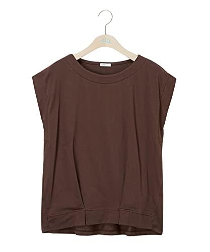 [nissen(ニッセン)] Tシャツ・カットソー 無地・無地調 綿混大きいサイズ裾タックフレンチスリーブプルオーバー モカ 3L 大きいサイズレディース