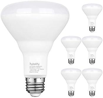 Hykolity 6 Pack Flood Light Bulb, BR30 LED Bulb