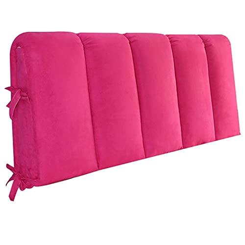 YXYH Funda Cabecera Cama Lujo Moderno Franela Suave Todo Incluido Funda Cabecera Cama Protector Antipolvo para Respaldo Cama Suave por Inicio Hotel (Color : Rose Red, Size : 200x50cm)