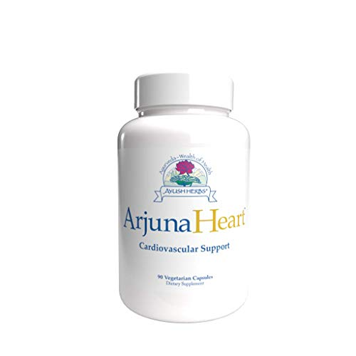 Ayush Herbs Arjuna Heart, Herbal Supplement for Heart Support, Heart-Protection Capsules for Men and Women, 90 Vegetarian Capsules