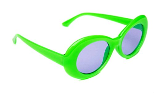 WebDeals - Oval Round Retro Sunglasses Color Tint or Smoke Lenses Clout Goggles … (Green, Light Purple)