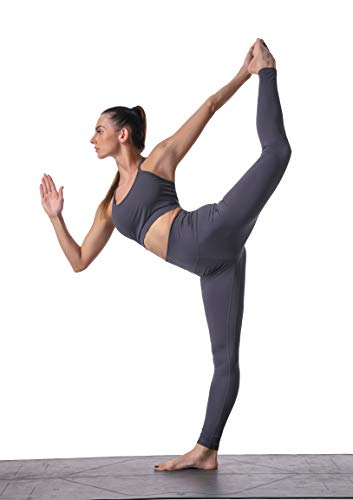 Sunzel Workout Leggings for Women, Squat Proof High Waisted Yoga Pants 4 Way Stretch, Buttery Soft Gray