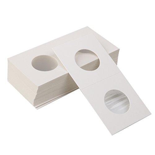 Bundle of 50 2×2 Mylar Cardboard Coin Flips for Storage Holder 25mm