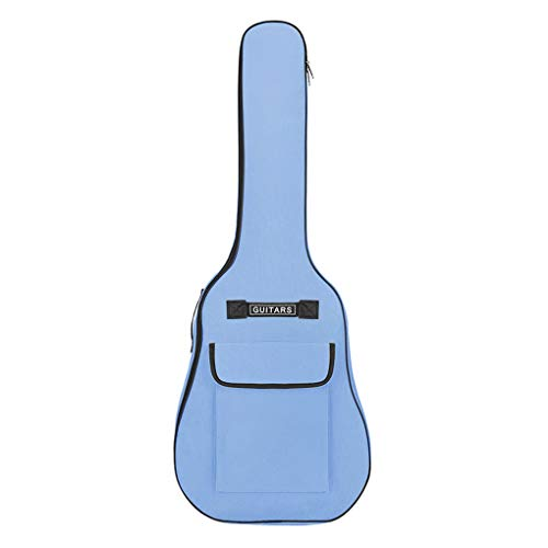 41 Pouces Multicolore Housse de Guitare Imperméable Etui de Guitare Sac pour Guitare en Nylon Oxford 600D Rembourrée avec Eponge de 5 MM Sangles Réglables pour Guitares Folk Acoustique Classique