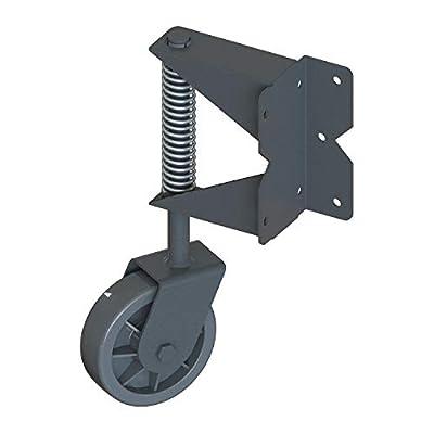 Nationwide Industries - Stainless Steel, Spring-Loaded, Swivel Gate Wheels for Vinyl Gates (Black) GW1-SS-BK