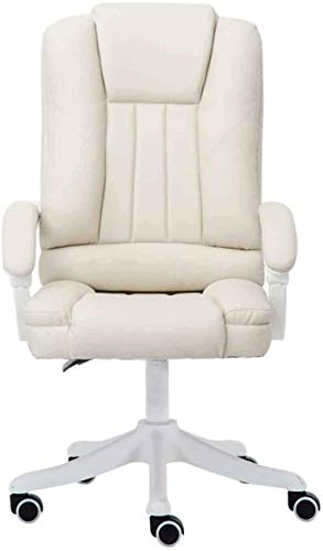 Office Chair Rotatable Lift with Footrest Reclining Massage Chair Ergonomic Computer Armchair Match Nylon Feet/PU Leather