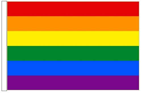 FlagSuperstore© Regenbogen-Bootsflagge 45 x 30 cm – Baumhäuser, Wohnwagen – Ärmel 45 cm x 30 cm – Gay Pride LGBTQ