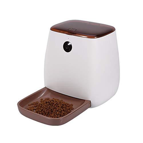 LG Snow 4L gato perro inteligente automático alimentador de mascotas dispensador de alimentos teléfono móvil control remoto WiFi1080p cámara bidireccional alimentador de voz blanco