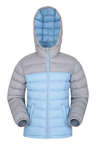 Mountain Warehouse Seasons Gepolsterte Jacke für Kinder, geeignet für alle Jahreszeiten - wasserdichte Winterjacke, leicht & warm Hellgrau 5-6 Jahre