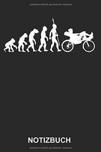 Notizbuch: Liegerad Liegefahrrad Fahrrad Radsport Radfahrer Radfahren Fahrradfahrer Fahrradfahren Sport Evolution Lustig Witzig | Notizbuch, Tagebuch, ... | ca. A5 mit Linien | 120 Seiten liniert