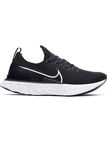 Nike React Infinity Run Flyknit Women's Running Shoe Black/White-Dark Grey Size 9