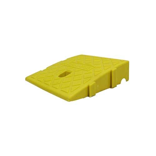 Draussen Indoor Rampen 7cm / 11cm Kunststoff Rampen Mat Heim Old Man Behinderte Rollstuhl-Rampen Licht Durable Anti-Rutsch-Matte Bordsteinkanten (Color : Yellow, Size : 25 * 27 * 7cm)