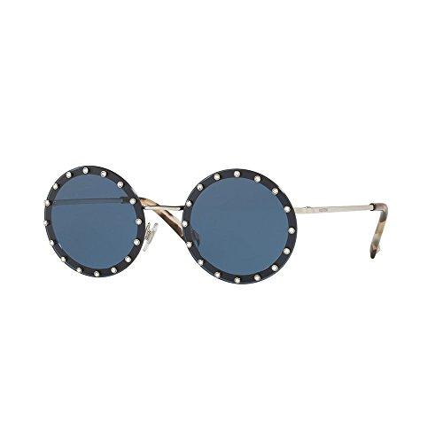 Valentino 0VA2010B 300680 52 Gafas de sol, Plateado (Silver/Darkbluee), Mujer