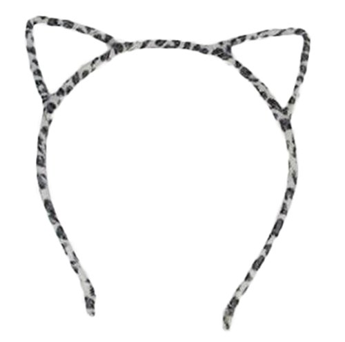 Fablcrew - Diadema de leopardo esponjosa para niñas, para disfraz de cumpleaños o cosplay