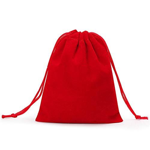 HEELPPO Stoffsack Schmuckbeutel SäCkchen GeschenktüTen Klein Flanell Schmucktasche Doppelter Kordelzug GlüCkstasche Jade Schmuck Aufbewahrungstasche 9 * 11cm
