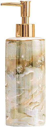 El alcohol dispensador automático de alcohol Botellas de dispensador de jabón Hermoso Patrón de textura de mármol Dispensador de jabón de cerámica para cocina Broquiadora de...