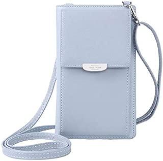 Fashion Single-Shoulder Bags Summer Women Phone Shoulder Bag PU Leather Money Wallet Mini Chain Mobile Crossbody Bag(Black) (Color : Blue)