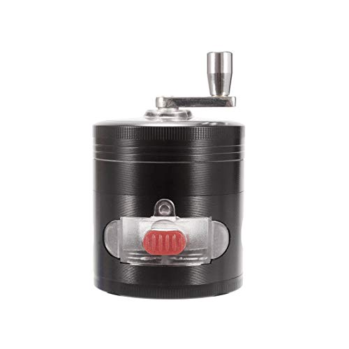 Insputer Grinder 4 Schichten 2 Zoll Vaporizer aus Zinklegierung für Trockene Gewürzmühle mit Magnetischer Abdeckung, Vaporizer Hochwertig und Tragbar