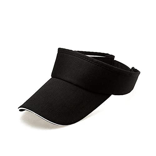 Visera Ajustable Protección UV Gorro de Deporte Unisex Sombrero Visera Mujer Hombre Gorra Deportiva Banda de Sudor Larga y Gruesa Sombrero de Velcro Ajustable para Correr Golf Ciclismo 1PCS