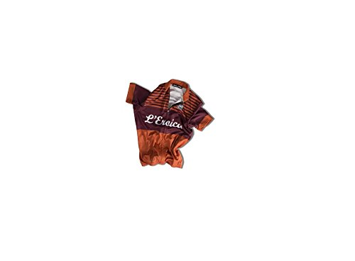 Santini Maglia Ciclismo Eroica Gaiole 2015 Event Series Arancione/Bordeaux 2XL
