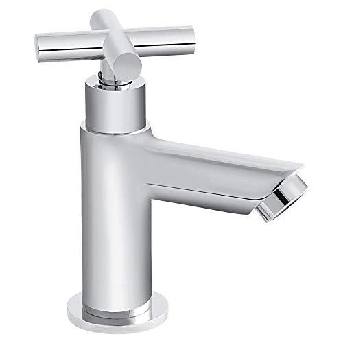 Grünblatt Bad Kaltwasser Standventil Armatur Wasserhahn Badarmaturen armaturen mit Anschlussschlauch (Kreuzgriff)