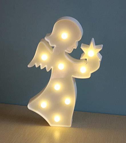 LED-nachtlampje eenhoorn Unicorn Children's kamer sfeer Night Light kindje Decoratie for de ruimte van het kind, Kleur: Angel (Color : Angel)