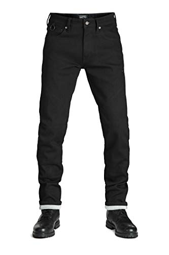 Pando Moto Steel Black 9 Men's Motorcycle Jeans Single Layer Dayneema CE Approved Motorbike Trousers