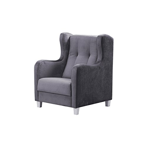 Mirjan24 Einzelsessel Gala, Design Polstersessel Armsessel Relaxsessel Armsofa Loungesessel Ohrensessel Sessel Couch (Fuego 166)