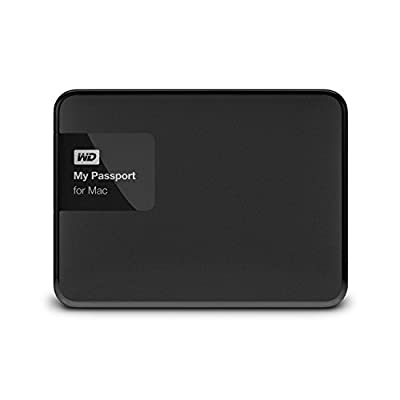 WD 2TB Black My Passport for Mac Portable External Hard Drive - USB 3.0 - WDBCGL0020BSL-NESN from WDAA0