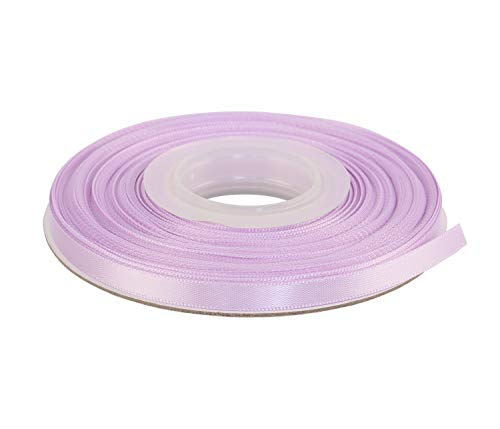 Ribbonitlux 1/4' Wide Double Face Satin Ribbon 25 Yards (430-Lavender), Set for Gift Wrapping, Party Decor, Sewing Applications, Wedding and Craft
