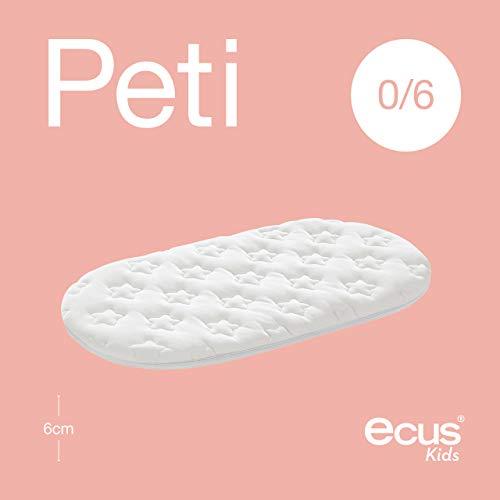 Ecus Kids Peti H-8 - Colchón de minicuna, 80 x 50 cm