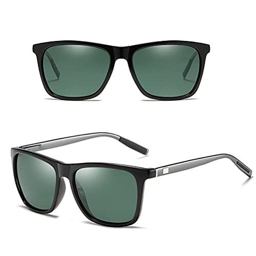 Urisgo Gafas de sol vintage unisex, retro, de aluminio, cuadradas, accesorios para gafas, gafas de sol para viajes de verano