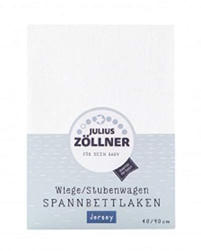 Julius Zöllner 8330047200 - Sábana Bajera Ajustable para Cuna (90 x 40 cm), Color Rosa