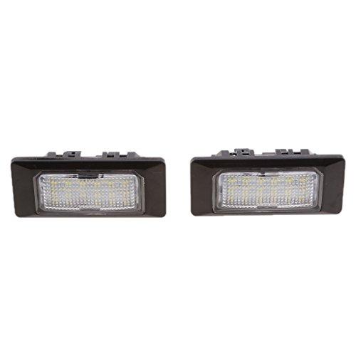 Sharplace 2X Lampe Lumière Numéro Plaque d'Immatriculation LED 3528-SMD de Voiture