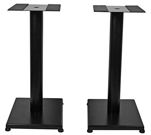 Rockville Pair RS21B 21 inch Steel Bookshelf Speaker/Studio Monitor Stands-Black V2