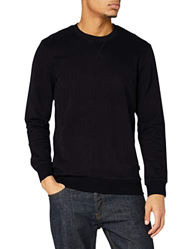 edc by ESPRIT Herren 990CC2J301 Sweatshirt, 001/BLACK, XL