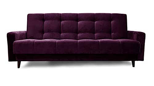 Rot Sofa Nancy BIS Polstersofa Dreisitzer 195x116 cm Couch Schlafsofa Wohnzimmercouch Polstersofa